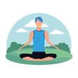 man yoga pose
