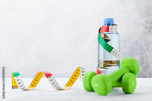 Fototapeten Fitness Fitness and healthy food concept