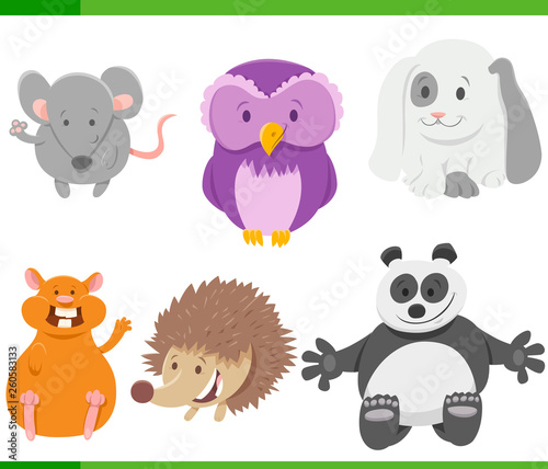 cartoon animal characters collection set