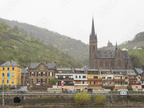 canvas print picture Kreuzfahrt auf dem romantischen Rhein