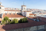 Church, aerial view of the cathedral of the city of Santander, Spain