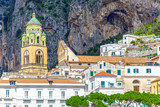 Cathedral bell tower in Amalfi, Italy