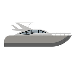 Yacht flat illustration