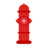 Fire hydrant flat illustration