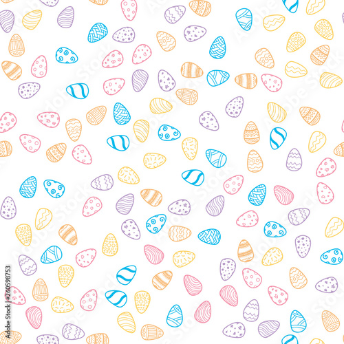 Happy Easter holiday seamless background - 260598753