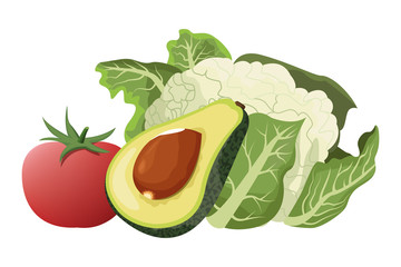 vegetables icon cartoon