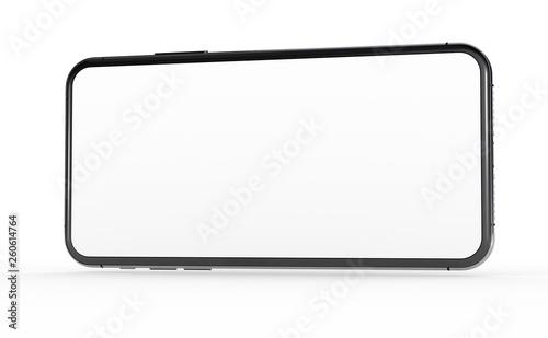 Leinwandbild Motiv  New realistic mobile phone smartphone mockup with blank screen.
