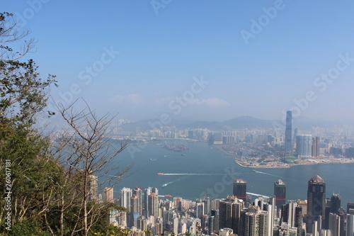 fototapeta na ścianę Hong Kong Skyline Peak Aussicht