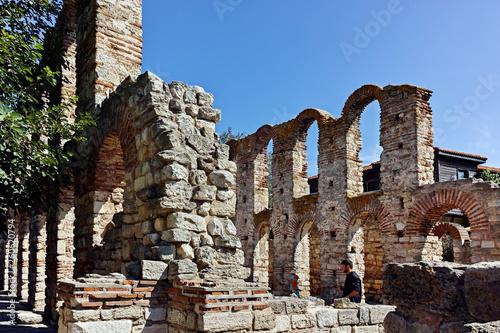Ruins of Ancient Church of Saint Sophia in the town of Nessebar, Burgas Region, Bulgaria