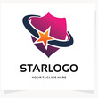 Star Shield Logo Design Template Inspiration