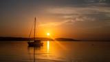 Sunrise Boat on the Lake