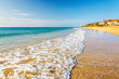 Quadro Beautiful ocean wave on the beach on Canary islands
