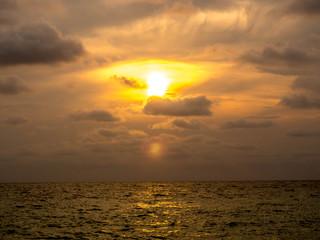 sunset on Surin beach Phuket Thailand © sakdam