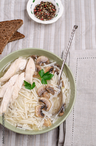Thick soup with noodles - 260670942