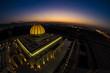 canvas print picture - Arabische Moschee bei Sonnenuntergang