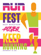 Run fest, keep running colorful poster, template for sport event, championship, tournament, can be used for card, banner, print, leaflet vector Illustration - 260675312