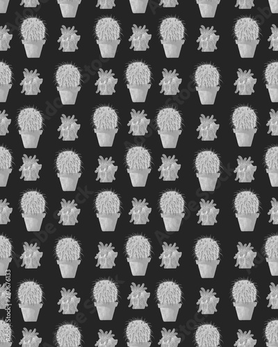 Pattern with cute patterns, suitable for textiles or postcards, wrapping paper - 260676133