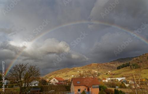 Arc en ciel dans les Vosges © Olympixel