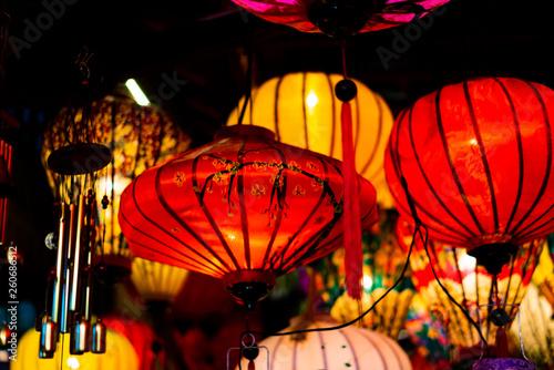 Leinwandbild Motiv Traditionnal lantern in Hoi An vietnam