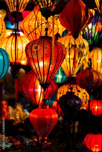Leinwanddruck Bild Traditionnal lantern in Hoi An vietnam