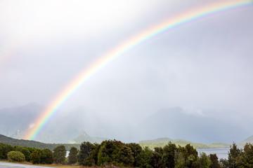 scenery at Lake Te Anau, New Zealand