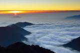 Sunset over the sea of clouds