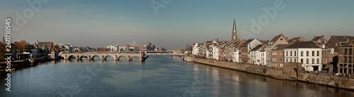 Panorama Maastricht.  Roman bridge river Maas - 260710545