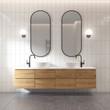 Leinwandbild Motiv 3d rendering of a modern minimal white bathroom
