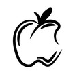 Hand drawn apple. Vector illustration. Doodle, freehand and outline - 260725308