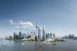 Quadro shanghai skyline and sunny sky