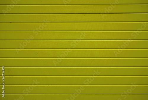 canvas print picture Gelbe Bretterwand mit horizontalen Brettern