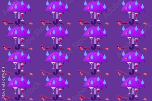 abstract background with stars - 260748718