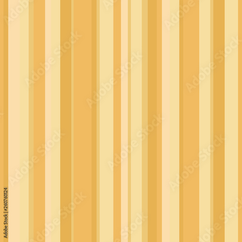Abstract wallpaper with vertical yellow and golden strips. Seamless colored background. Geometric pattern - 260760124