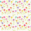 Colorful flowers seamless pattern background. - 260769708