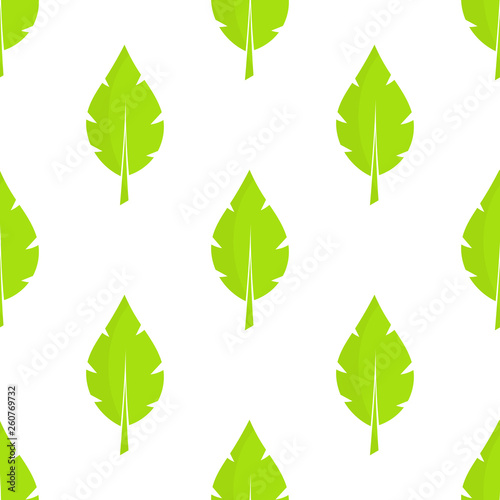 Spring green leaves seamless pattern. © Studio Barcelona