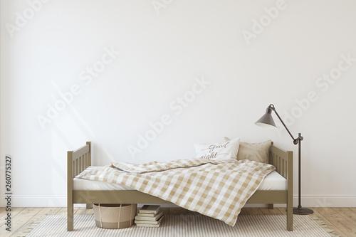 Toddler room. 3d render.
