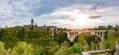 canvas print picture - Luxemburg Stadt Panorama