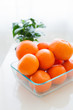 canvas print picture - Orange Tangerine Fruit