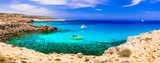 Best beaches of Cyprus island. Outstanding beauty and cystal clear waters, Cape Greco bay - 260790933
