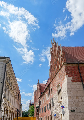 fototapeta na ścianę KRAKOW, POLAND - August 27, 2017: antique building view in Krakow, Poland