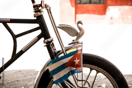 Cuban flag on bike