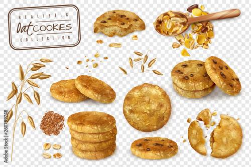Oat Cookies Transparent Set - 260799748