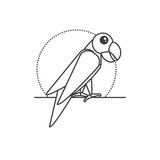 parrot bird animal isolated icon