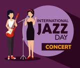 women play instrument to international jazz day