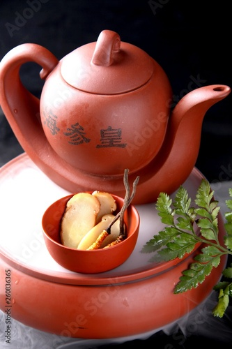 teapot and cup of tea © WENYUE