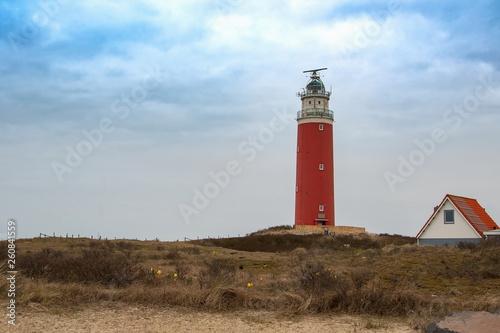 canvas print picture Leuchtturm von Texel