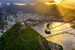 Quadro Sunset view of Corcovado, Urca and Botafogo in Rio de Janeiro. Brazil