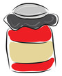 Simple red jar vector illustration on white background