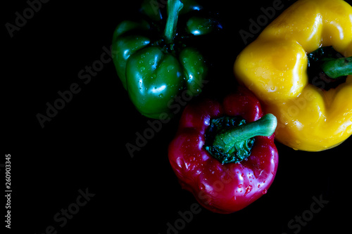 Red , Green and Yellow Pepper Sweet - 260903345