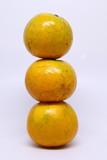orange organic fruit on white background